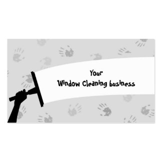 Limpieza de ventana tarjetas de visita