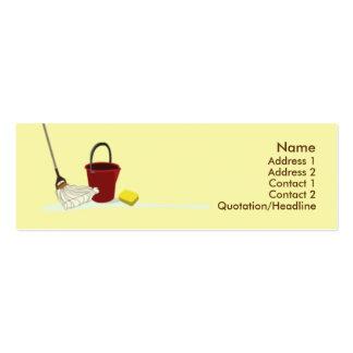Limpieza - flaca tarjeta personal