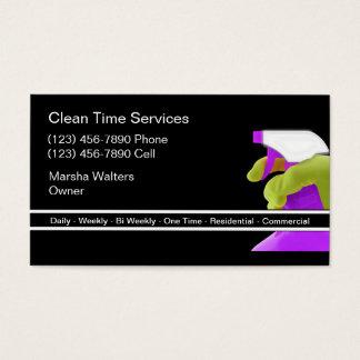 Limpieza profesional tarjeta de visita
