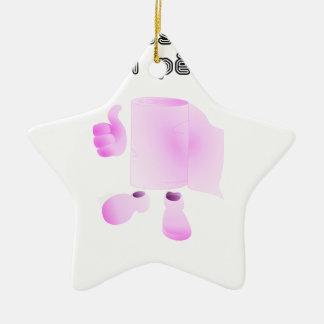 limpio a tu padre adorno navideño de cerámica en forma de estrella