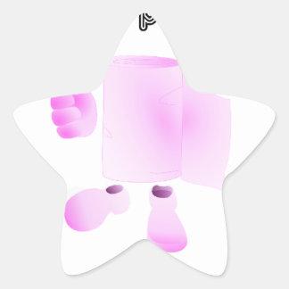 limpio a tu padre pegatinas forma de estrellaes