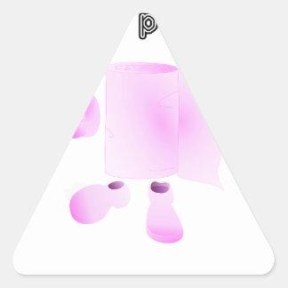 limpio a tu padre pegatina triangular