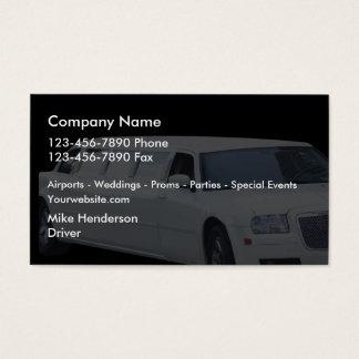 Limusina del taxi tarjeta de negocios
