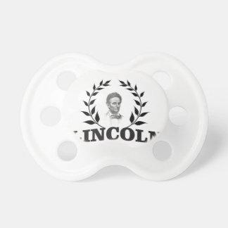Lincoln blanco y negro chupetes para bebés