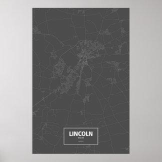 Lincoln, Inglaterra (blanca en negro) Póster