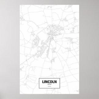 Lincoln, Inglaterra (negro en blanco) Póster