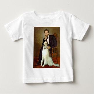 Lincoln y su Borzoi Camiseta De Bebé