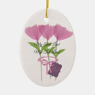 Lindo añada el ornamento rosado de las flores del