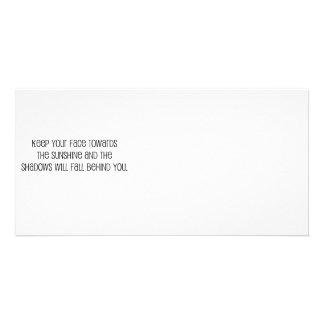 """Lindo, """"cara hacia cita de la sol"""" tarjetas fotográficas"""