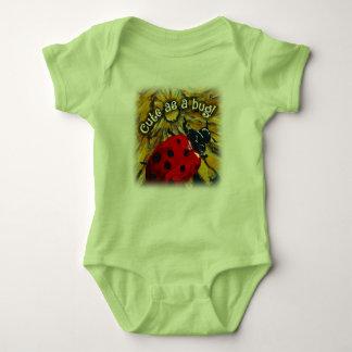 """""""Lindo como insecto!"""" mono del jersey del bebé"""