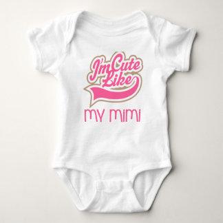 Lindo como mi camiseta del bebé Mimi