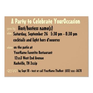 Lindo cualquier fiesta de la ocasión invitación 11,4 x 15,8 cm