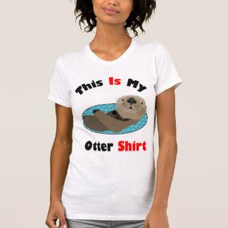 Lindo divertido esto es mi camisa de la nutria