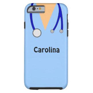 Lindo friega la caja médica personalizada del funda resistente iPhone 6