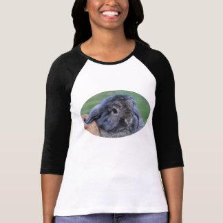 Lindo lop la camiseta espigada del conejo