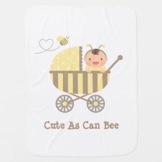 Lindo manosee al bebé de la abeja en retruécano mantita para bebé