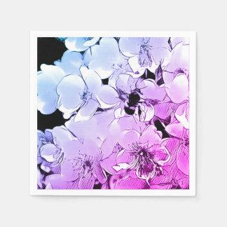 Lindo manosee la abeja y la servilleta color de servilletas de papel