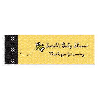 Lindo manosee las abejas le agradecen marca plantilla de tarjeta de visita