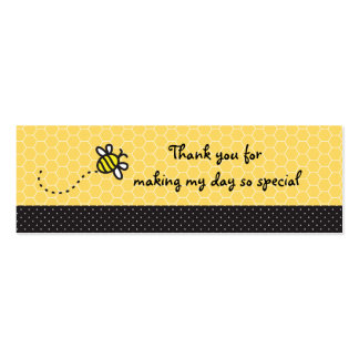 Lindo manosee las abejas que la fiesta de tarjetas de visita mini