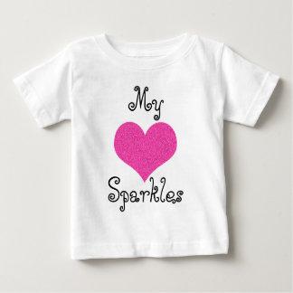 lindo mi corazón chispea camiseta del bebé