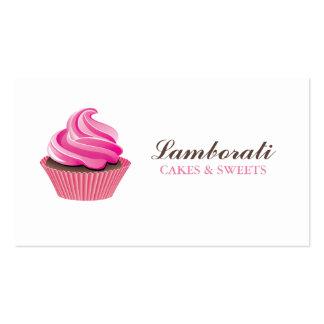Lindo moderno elegante del rosa de la panadería de tarjetas de negocios