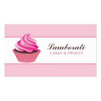Lindo moderno elegante del rosa de la panadería de plantilla de tarjeta de visita
