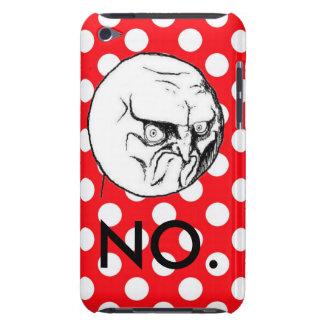 ¡Lindo NO! lunar del rojo del meme iPod Case-Mate Cobertura