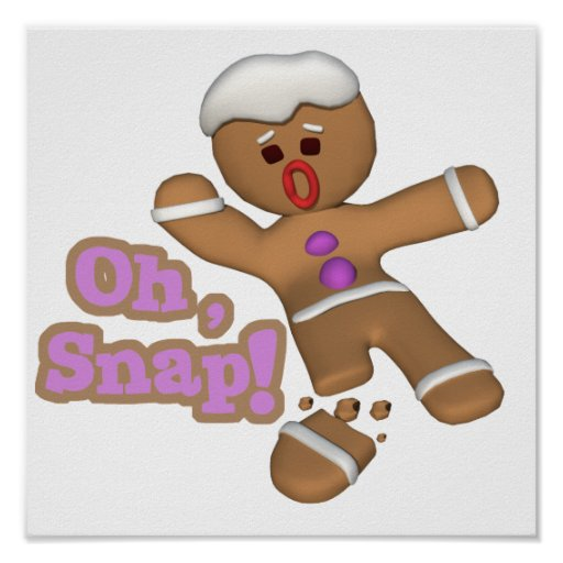 lindo oh, galleta rápida del hombre de pan de jeng posters