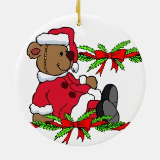 Lindo personalice el ornamento de ChristmasTheme Adorno Navideño Redondo De Cerámica