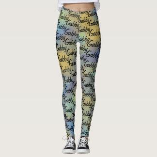 Lindo personalizó su nombre por todo modelo leggings