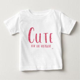 """""""Lindo por camiseta del estilo del brillo del rosa"""