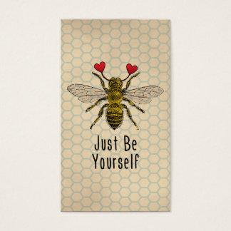 Lindo sea usted mismo abeja tarjeta de visita