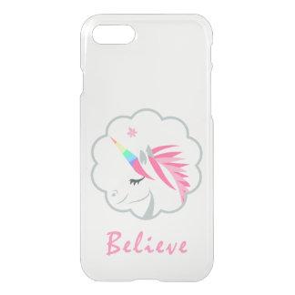 lindos elegantes creen en emoji de los unicornios funda para iPhone 8/7