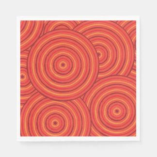 Línea aborigen pintura servilleta de papel