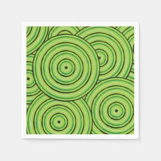 Línea aborigen pintura servilletas de papel