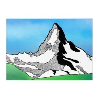 Línea acuarela de Cervino Suiza del arte
