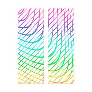 Lienzo Línea arte colorida abstracta moderna