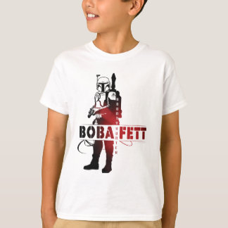 Línea arte de Boba Fett Camisetas