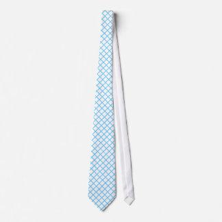 Línea azul clara llana lazo de la plantilla del corbatas personalizadas