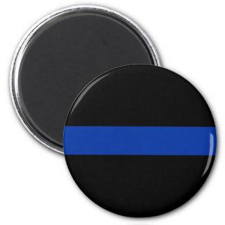 línea azul fina ley de la policía imanes de nevera