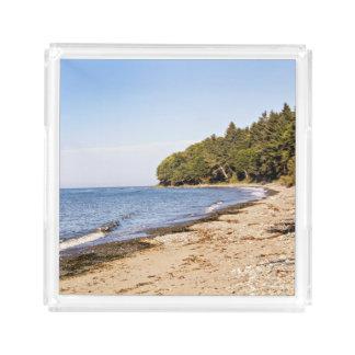 Línea bandeja de la orilla de la playa de la