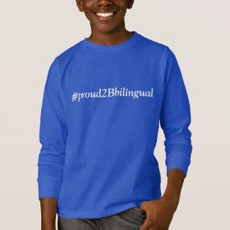 Línea bilingüe del orgullo (camiseta del niño) camiseta