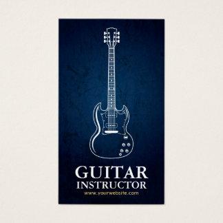 Línea blanca instructor de la guitarra, tarjeta de negocios