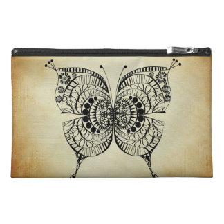 Línea bolso dibujado del moreno de la mariposa