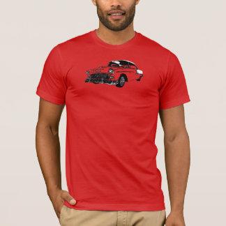 Línea camiseta de B&W del arte '55 Chevy