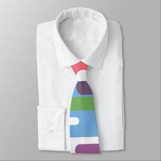 Línea colorida animada lazo del modelo corbatas