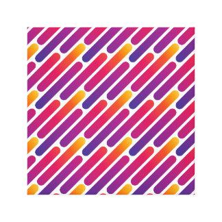Línea colorida impresión de la lona del modelo