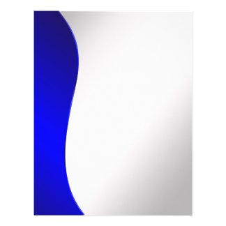 Línea de azules marinos del fondo en la plata flyer