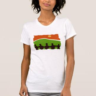 Línea de familia camiseta