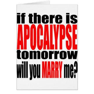 línea de la apocalipsis propuesta de matrimonio de tarjeta